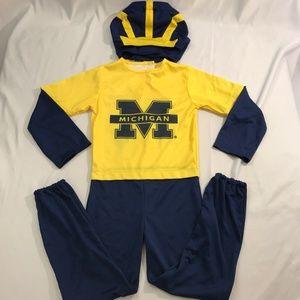 University of Michigan Wolverines Size 4T Costume